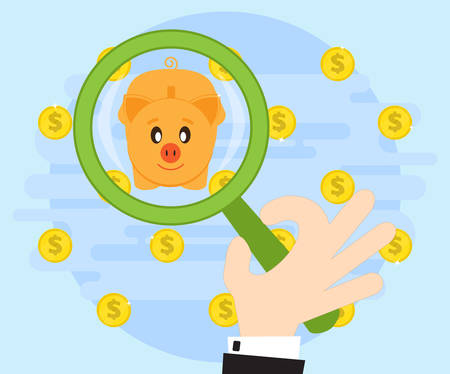 accumulation: Search for the best investment of savings and wealth accumulation. Of the many offers the best choice. Flat style Illustration