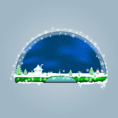 Empty green shelves decorated for Christmas and New Years theme. Shelves for online shopping for the New Year, Christmas and winter sales. Design for the menu bar, decoration website. Template button Illustration