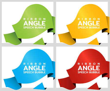 Ribbon rounded angle banners. Price tag template for catalog colorer stickers Vector 矢量图像