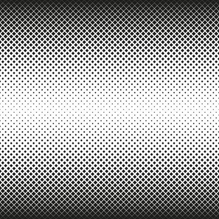 Horizontal seamless Halftone of squares decreases to center, on white background. Contrasty halftone background. Vector illustration Ilustrace