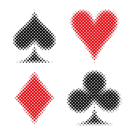 Symbol of playing cards illustration