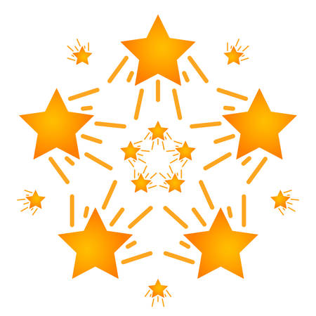 Set of stars different directions motion. Falling star. Vector
