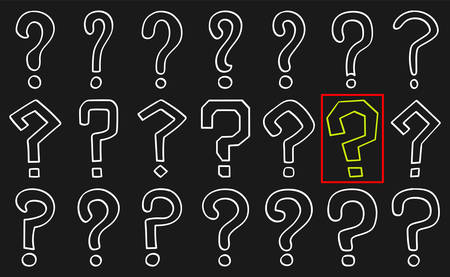 Set of hand drawn question marks in sketch. Vector illustration Stock fotó - 129912449