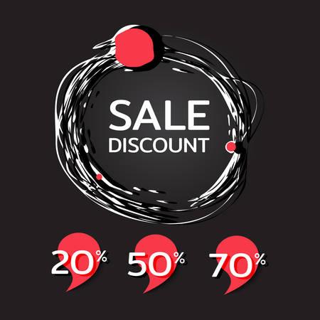 Big sale. Black Friday banner. Sale discount poster. Template for designers. Vector illustration
