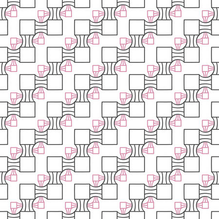 Abstract seamless geometric two levels pattern. Simple linear mosaic texture for background. Vector illustration