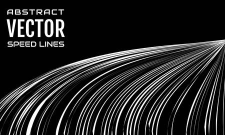 Speed lines background with space for text. Effect motion lines for comic book and manga. Rays with effect explosion. Template for web and print design. Black and white vector illustration