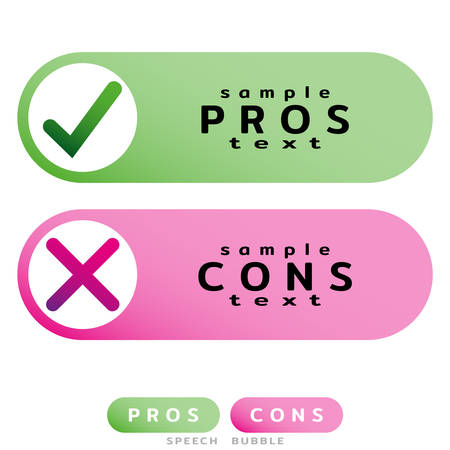 Pros Cons message windows. Correct Wrong, True False. Design template for informative articles, weighing facts. Did you know. Vector illustration