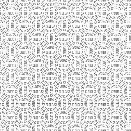 Abstract seamless geometric pattern with weave ornament. Simple black and white linear wavy striped texture. Look like distorted net. Vector illustration Vektoros illusztráció
