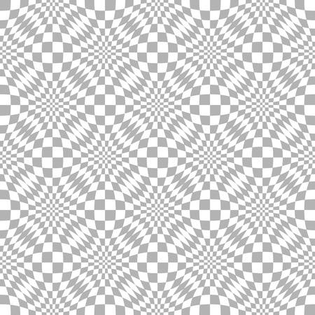 Abstract seamless geometric pattern with weave ornament. Simple black and white linear wavy striped texture. Look like distorted net. Vector illustration Illustration