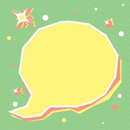 Cute empty speech bubble for children's holiday. Used to decorate flyers, publications, infographic, party invitation, scrapbook. Text banner, poster. Template for your design. Vector illustration