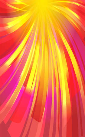 Festive background of bright colorful speed lines. Effect motion lines for comic book and manga. Sunbeams with effect explosion. Template for web and print design. Vector illustration 矢量图像