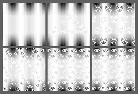 Seamless geometric striped background for Text. Template with Copy space. Endless striped monochrome background with abstract geometric pattern. Vector illustration