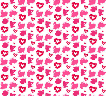 Red seamless pattern for fashion design. Love, Valentine day theme. Vector illustration Ilustracja
