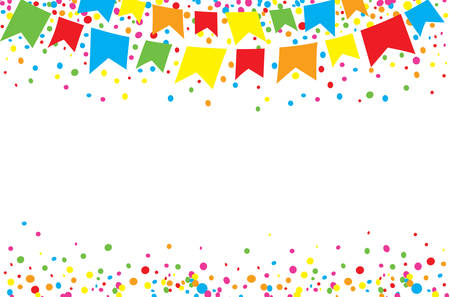festivities: Happy June Festival at day with bright and colorful dots in the sky Illustration