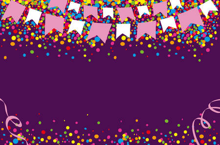 jubilation: Happy June Festival with bright and colorful dots in the sky
