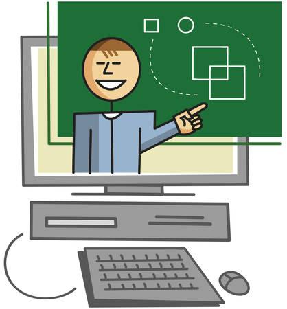 dersleri: Internet üzerinden sanal öğretmen veren dersleri