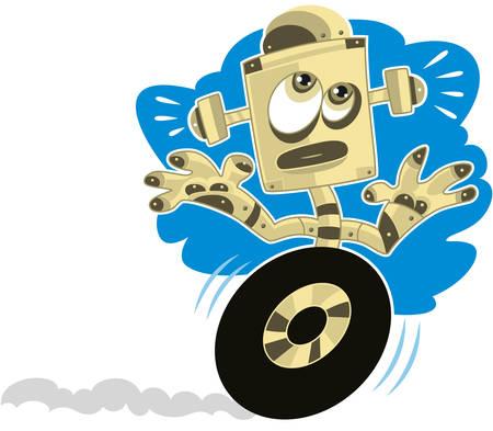 rushed: Cartoon Robot running