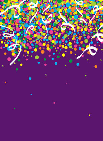 carnaval: Rain of colorful confetti at the party Illustration