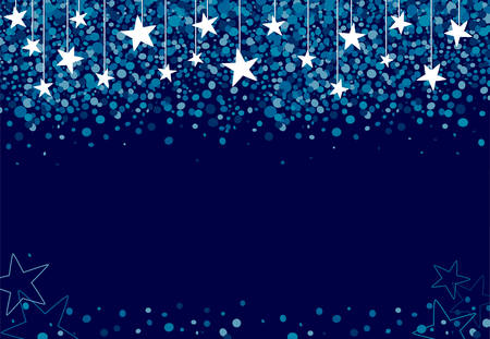 Background made of stars falling from the sky at night