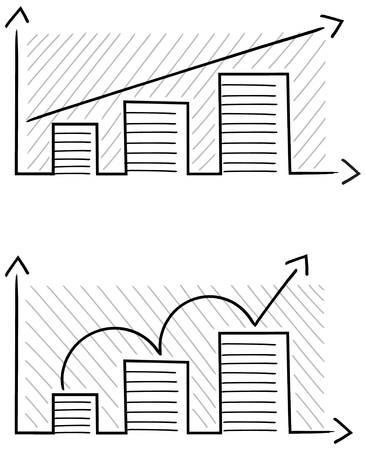 breadth: Simple sketch of a graph showing growth
