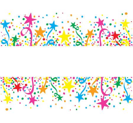 慶典: 五顏六色的大背景恆星在天 向量圖像