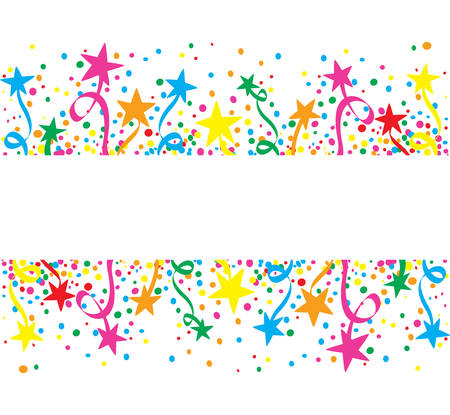 confetti background: Big colorful background stars at day