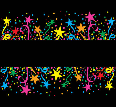confetti: Big colorful background stars at night