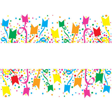 jubilation: Big Festival with confetti and streamers at many day Illustration