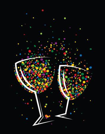 jubilation: Happy colorful drink celebrating life