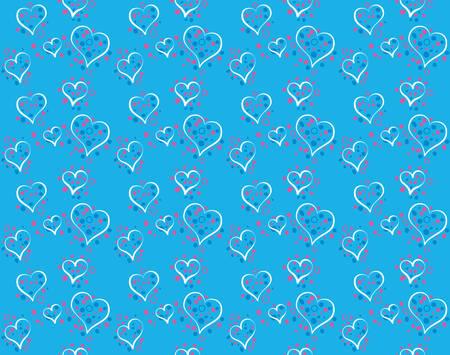 love wallpaper: Pattern of romantic hearts falling from sky