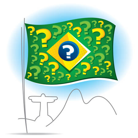 slump: Brazil flag and many questions about the future Illustration