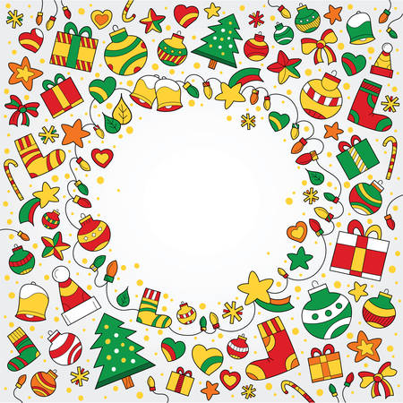 jubilation: Background with Christmas drawings with a space in the middle for text