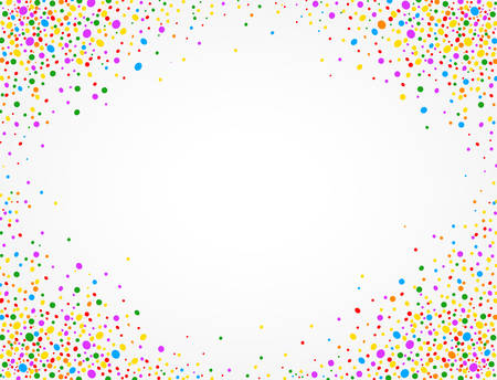 Background with colorful confetti and space to put text in the middle Ilustração