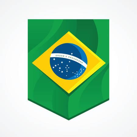 Brazil flag inside a flamula
