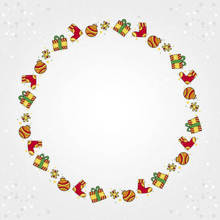 Playful Christmas designs with colorful ornaments in the shape o