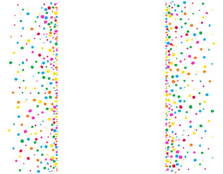 Vertical white background with colored dots and a space in the middle to write Illustration
