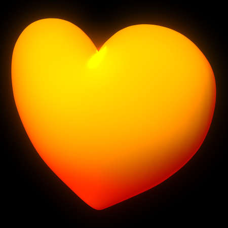 embers: Lovely embers heart with black surrounding  Stock Photo