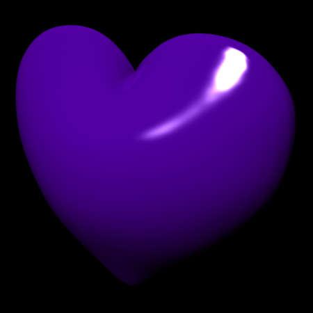 surrounding: Lovely purple heart with black surrounding