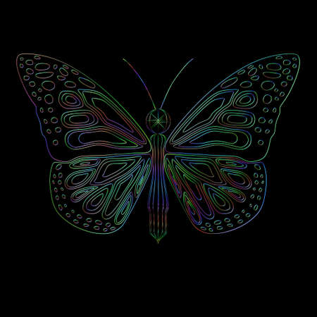gently: Wire butterfly with gently mixed color