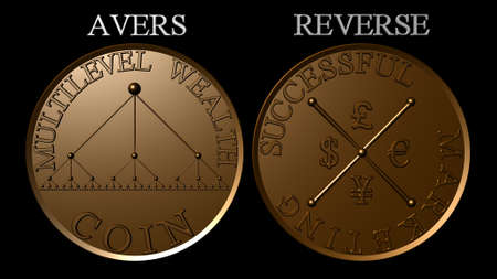Bronze multilevel marketing wealth coin photo