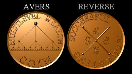Copper multilevel marketing wealth coin Stock Photo - 13522679