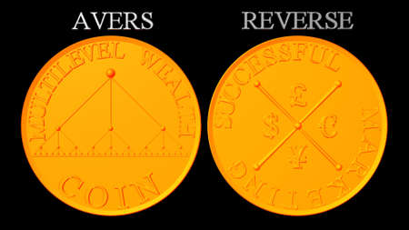 multilevel: Embers moneta multilevel marketing Archivio Fotografico