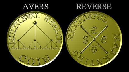 multilevel: Medaglia d'oro di marketing multilivello ricchezza