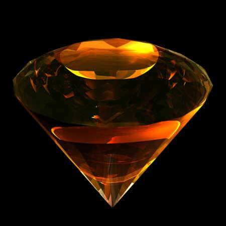 diamond shaped: Precious gemstone amber classical shaped like diamond