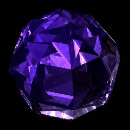 refractions: Precious gemstone amethyst with shape of a ball  Stock Photo