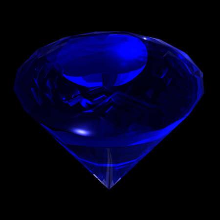 diamond shaped: Precious gemstone sapphire classical shaped like diamond