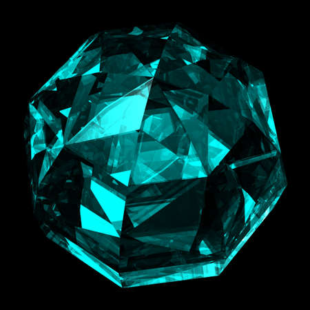 refractions: Precious gemstone sky blue sapphire with shape of a ball