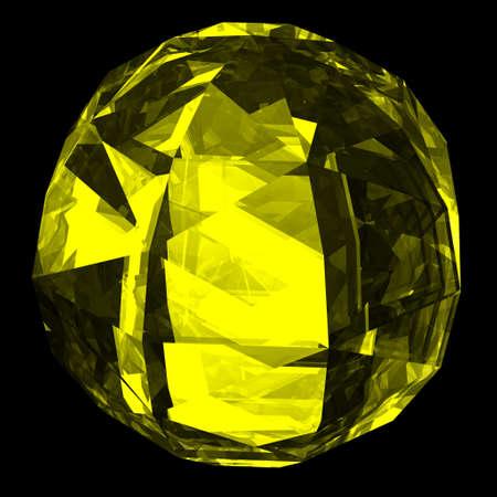 zircon: Precious gemstone zircon with shape of a ball