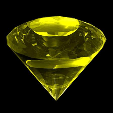 zircon: Precious gemstone zircon classical shaped like diamond    Stock Photo