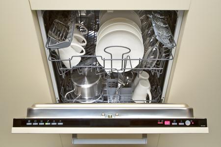 食器洗い機を開く